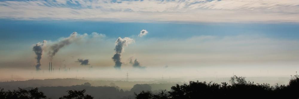Clouds, Wind, Factory